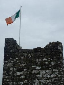 Irish flag atop Trim Keep